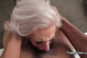 Tranny enjoyed black cock in say no to mouth