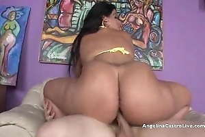 Angelina castro acquires a giant cum shower!!!!!