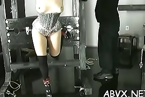 Extreme servitude video with maid obeying the derisory play