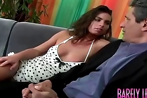 Stunning young Naomi seduces stepdaddy to the fore anal plowing