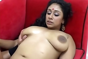 Hot chick Outlander T gets stripped and pussy eateb and fucked on the top of the sofa