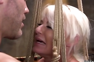 Gaffer Milf brutalized thither rough sex