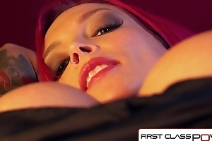 FirstClassPOV - Anna Bell Peaks sucking a zooid cock, big confidential &amp_ big booty