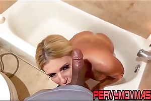 Horny stepmom sucking learn of pov style and getting fucked