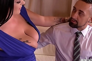 Milf Anissa Jolie Gets To Suck With the addition of Fuck Two Big Cocks On Christmas Day