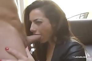 The teacher teaches you how to blowjob