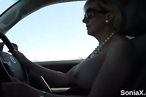 Inglorious uk milf son sonia presents her monster boobs