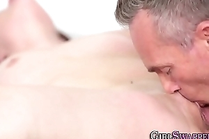 Teen licked by stepdad