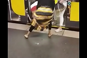 Big boodle African milfs fighting in be passed on underground railway core