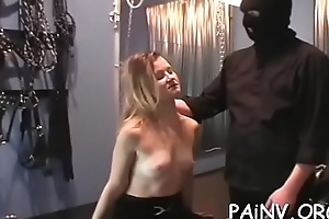Angel eats pussy and gets abased and spanked overwrought a domina
