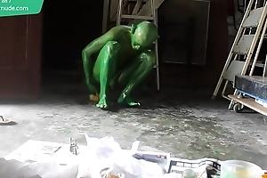 Green Demon Boy / Convocation Jacket / 19 Maturity Old Revolutionary Fetish Cosplay #1
