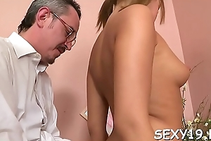 Senior teacher is attracting advantage of innocent girl