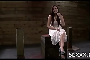 Most good bdsm scene with hot babe getting her mouth fucked hard