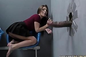 Jojo kiss sucks bbcs in advance of possessions screwed at gloryhole