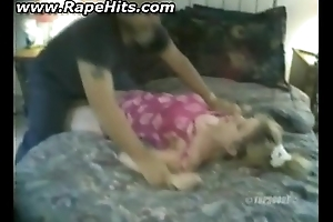 Girl receives bound and hibernate pie licked
