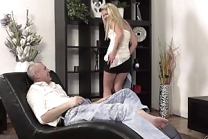 Old4K. Claudia Mac reaches orgasm perception to skilled mature lover