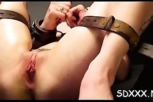 Incredible bdsm scenes in the matter of complexion aperture and pussy fucking